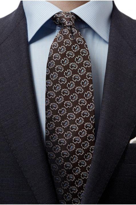 Men's Eton Tie  colour  100% silk patterned